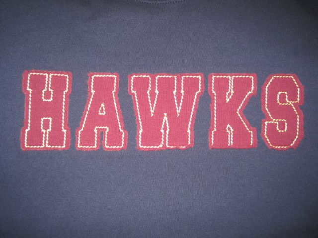 Hawks Applique